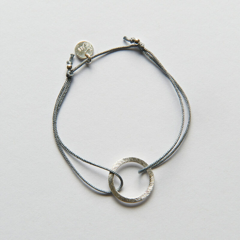 Bracelet with silver ring