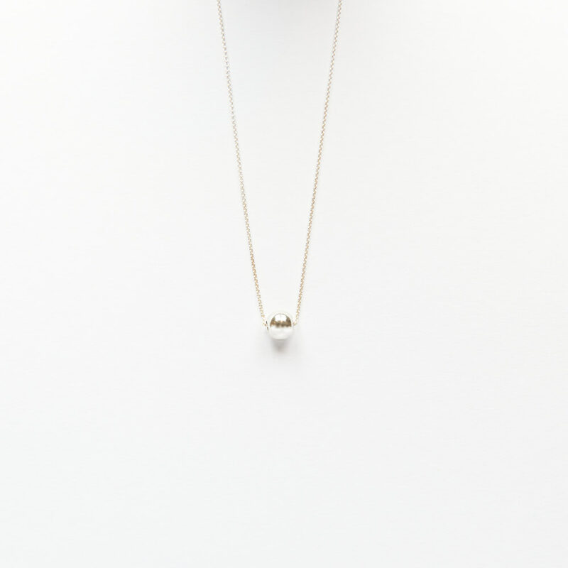 Necklace - Ball, Silver